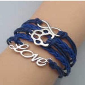 Jewelry - ❤ 4 for $25 ❤ #792 Love Paw Pet Leather Bracelet